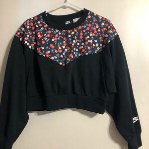 Nike Floral Crop Sweatshirt